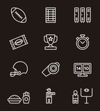 AMERICAN FOOTBALL outline icons