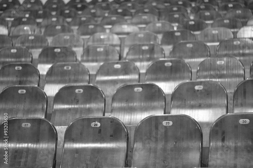 Empty seating in the circus - 93203650