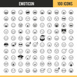 Emoticon icons. Vector illustration.