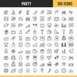 Obrazy na płótnie, fototapety, zdjęcia, fotoobrazy drukowane : Party icons. Vector illustration.