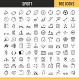 Fototapety Sport icons. Vector illustration.