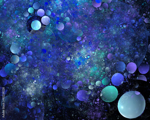 Foto op Canvas UFO abstract fractal background for creative design