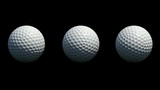 3 Different rotations of Golf Balls.