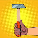 Fototapety Hand with hammer