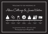 Fototapety wedding timeline background