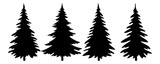 Christmas Trees Pictogram Set