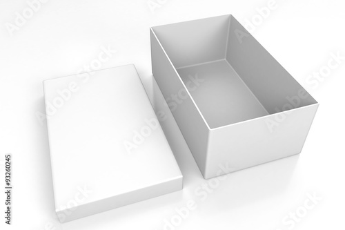 White open shoe box isolated on white