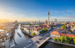 Quadro Berlin skyline panorama with TV tower and Spree river at sunset, Germany