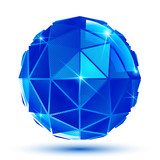 Bright facet radiance 3d eps10 spherical object with sparkles is poster