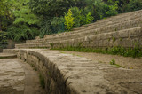 The stone bleachers at Arenes de Lutece are among the remains of one of the largest amphitheaters built by the Romans. - 93276493