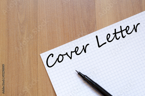 Cover letter text concept Poster
