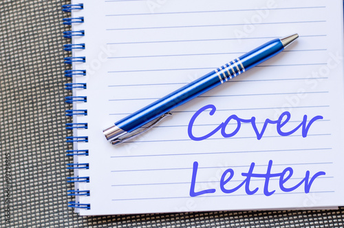Poster Cover letter text concept