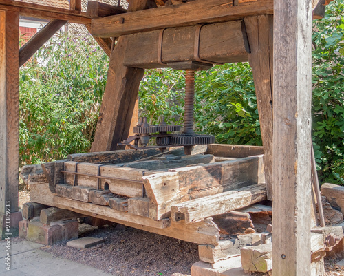 historic wine press