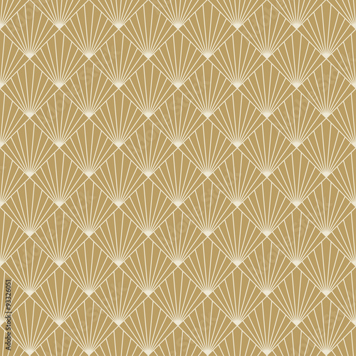 Naklejka art deco sunburst pattern