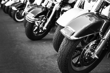 Motorcycles in a row © Mariusz Blach