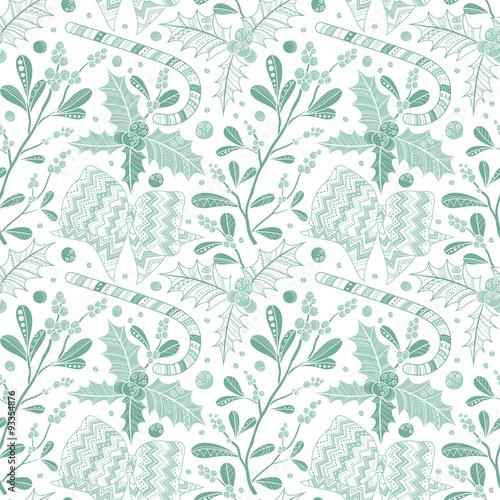 Cotton fabric Christmas seamless pattern