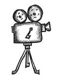 Fototapety doodle cinema projector