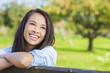 Beautiful Asian Eurasian Girl Smiling with Perfect Teeth