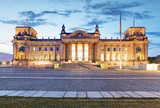 Berlin Reichstag. Image of illuminated Reichstag Building in Ber