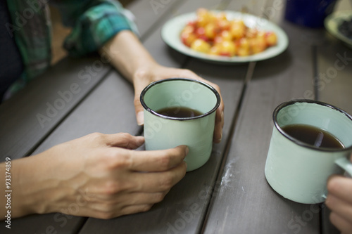 Image result for two people drinking coffee