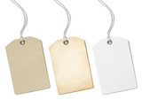 Blank paper price tags or labels set isolated  - 93390262