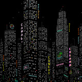 City Skyscraper Vector Background