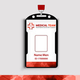Id corporate identity identifier medicine red poster