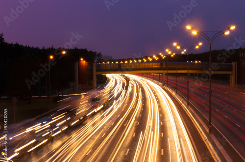 Poster Chicago Highway at evening