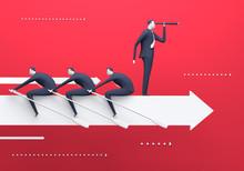 Business team. Business rendered illustration