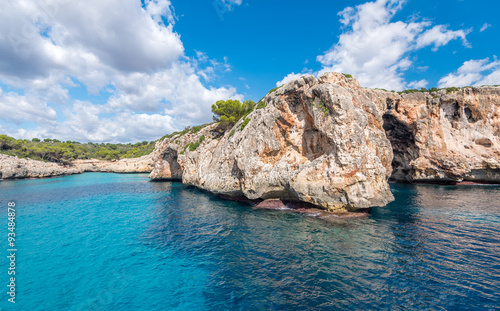 Aluminium Schipbreuk Traumhafte Küste bei Porto Cristo, Mallorca