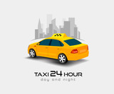 Fototapety taxi car