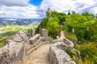 beautiful landscapes of San Marino - view with Rocca della Guait