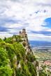 impressive castles of San Marino - view with Rocca della Guaita