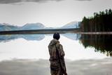 Hunter on the lake
