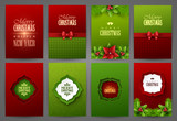 Fototapety Christmas backgrounds set