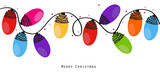 Fototapety Colorful Christmas light bulbs vector background
