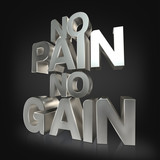 Motivational fitness phrases iron letters on black studio background poster
