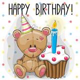 Fototapety Bear with cake