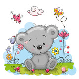 Fototapety Bear with flowers