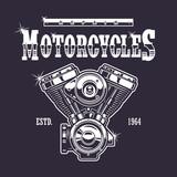 Fototapety Vintage motorcycle print.