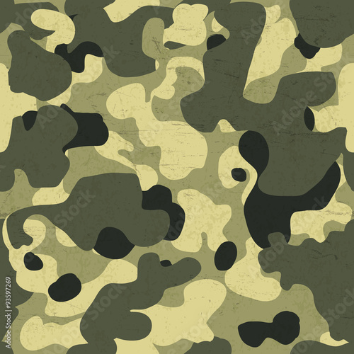 Military camouflage seamless pattern. Vector background with scr © pashabo