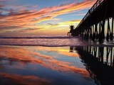Colorful Sunset at the Imperial Beach Pier, San Diego, California, USA poster