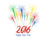 Fototapety Happy new year fireworks 2016 holiday background design