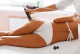 Body care. Ultrasound cavitation treatment. Anti-cellulite and anti-fat therapy poster