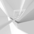 Square abstract architecture background 3d