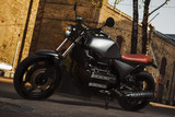 Fototapety Cafe-racer motorcycle outdoor