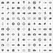 photography 100 icons universal set