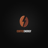 Fototapety coffee bean logo flash energy concept background