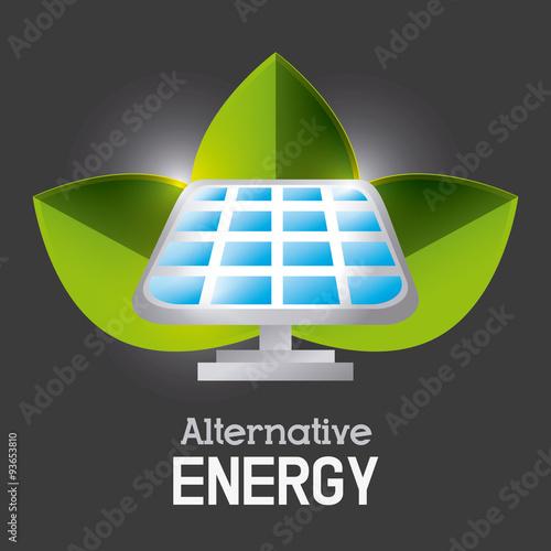 Plakat Green energy ecology design