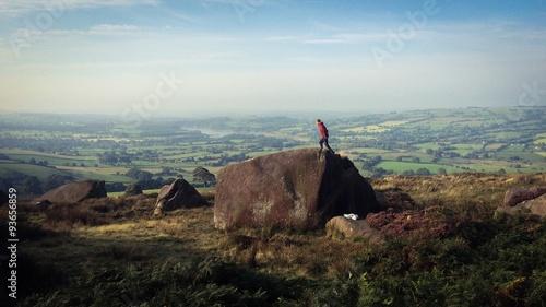 boulder in peak district poster